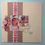 My finished layout of Lilli using Let's Polka, Mom Amie!