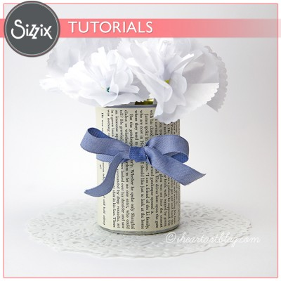Sizzix Video Tutorial: Upcycled Floral Centerpiece